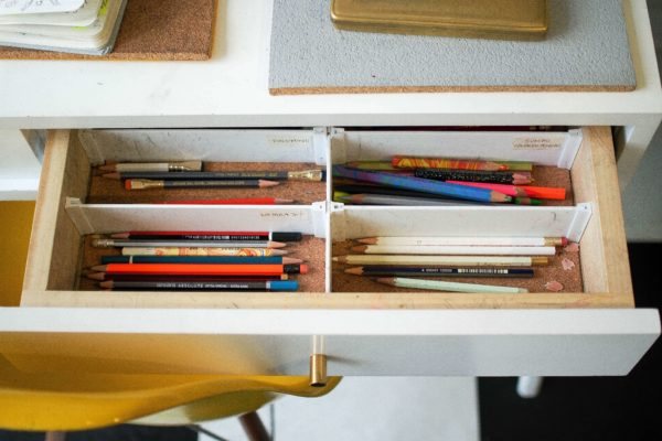 引き出しのペン